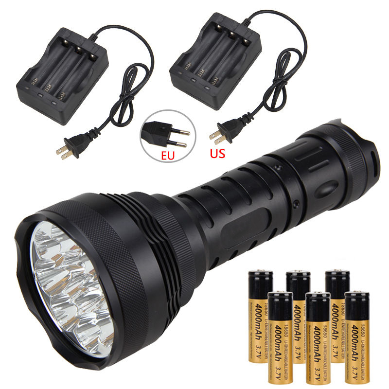 High power super bright 15000 lumens 12 x XMLT6 LED tactical flashlight outdoor lighting camping hunting lights jm pj7002 outdoor camping flashlight 200 lumens