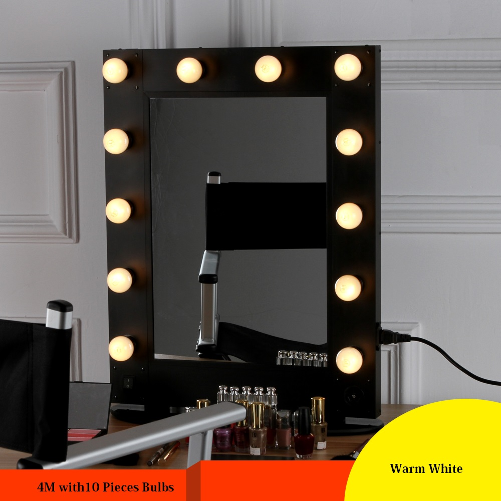 10 Bulbs Hot Led Lighted Makeup Mirror Bulbs String Stepless
