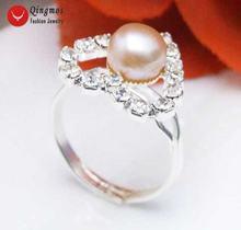 Женское кольцо с натуральным фиолетовым жемчугом 6 7 мм 15