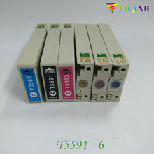 T5591 T5592 T5593 T5594 T5595 T5596 Ink Cartridge for Epson Stylus RX700 Printer