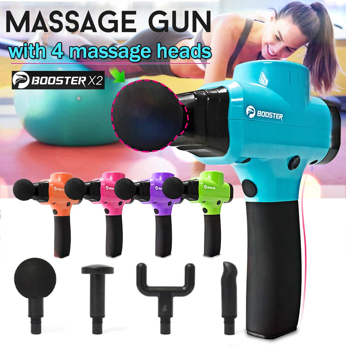 16V Muscle Relaxation Fascia Machine Fitness Deep Muscle Massager Percussion Massage Device Electric Massager Shock Stimulator16V Muscle Relaxation Fascia Machine Fitness Deep Muscle Massager Percussion Massage Device Electric Massager Shock Stimulator