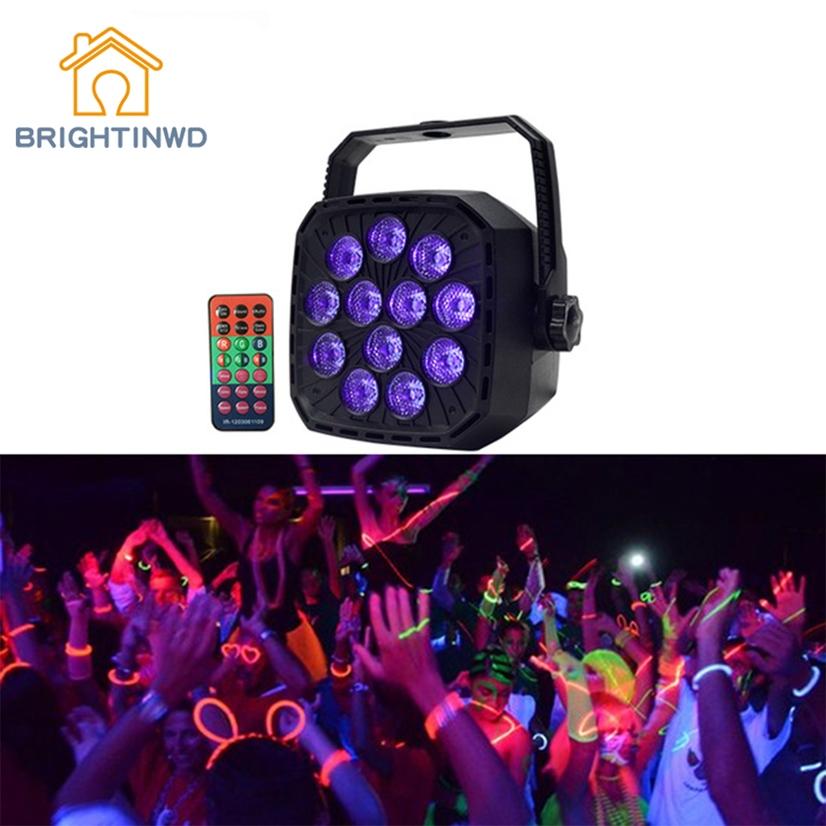 BRIGHTINWD UV Led Stage Light Disco Light Ball with DMX 512 12W Stage Lighting Effect Lights Stage Lamp for Dj Bar Party KTV mini rgb led party disco club dj light crystal magic ball effect stage lighting