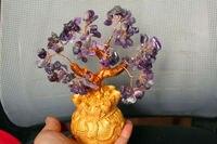 Lucky tree hand woven bonsai NATURAL amethyst quartz crystal