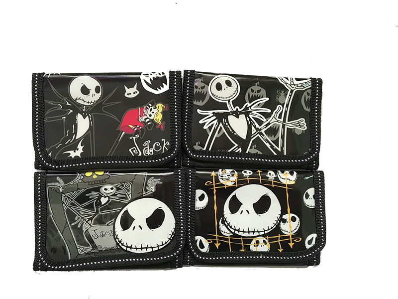 12Pcs The Nightmare Before Christmas Coin Kids Cartoon Wallet Bag Pouch Children Purse Small Wallet Party Birthday Gift