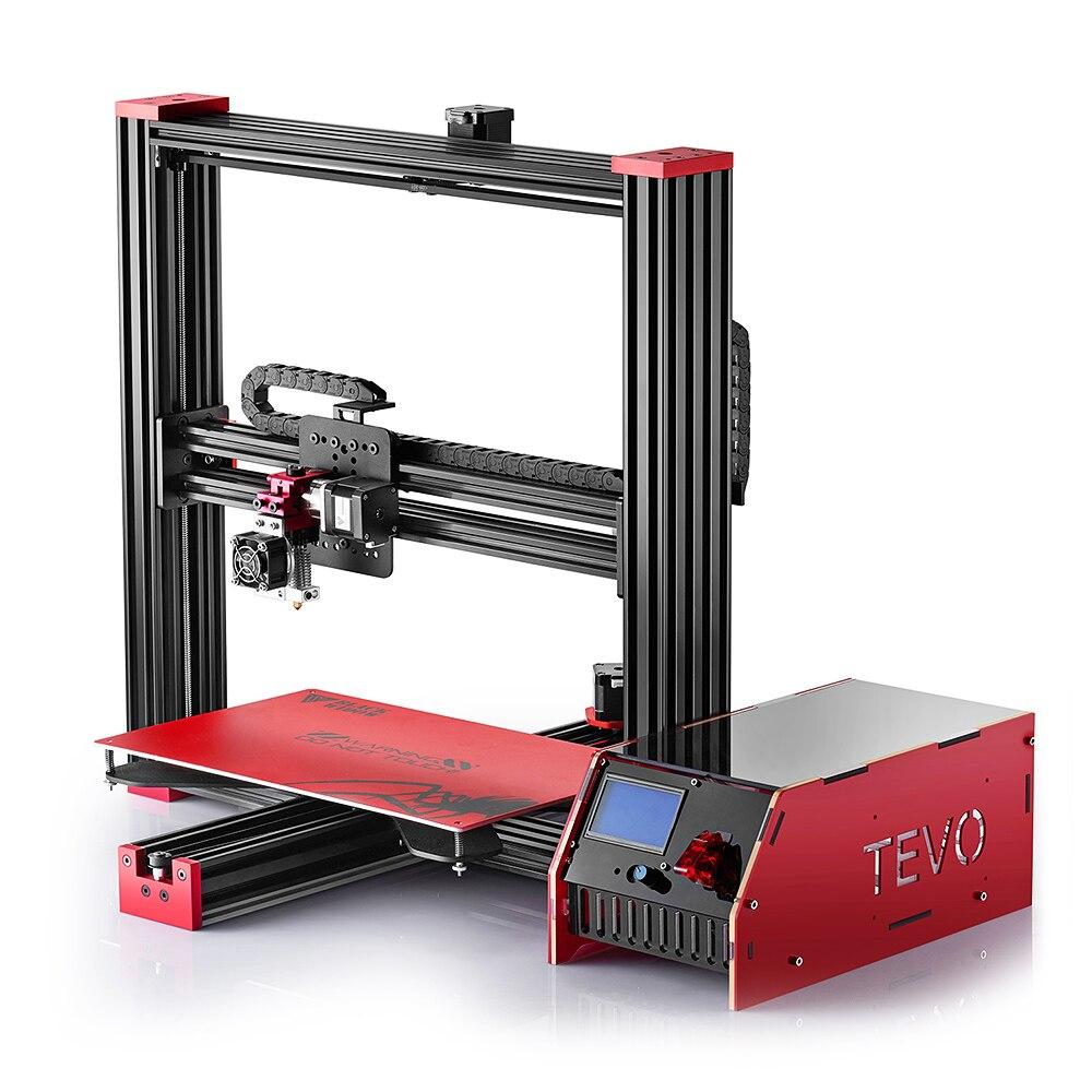TEVO Black Widow LCD 3D Printer Kit DIY Full Aluminum Large Printing Area 370 x 250 x 300mm OpenBuild Aluminium Extrusion Gift zonestar newest full metal aluminum frame big size 300mm x 300mm auto level laser engraving run out decect 3d printer diy kit