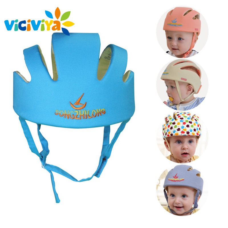 Image 3 - VICIVIYA Infant Protective Hat Safety Helmet For Babies Cotton Baby Toddler Anti collision Cap Kids Sun Hats Soft Children Caps#-in Hats & Caps from Mother & Kids