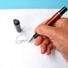 Получить скидку Тяжелые чувства Подписание Pen Винтаж металла с красного дерева гелевая ручка 0,5 мм Личность офис подарок