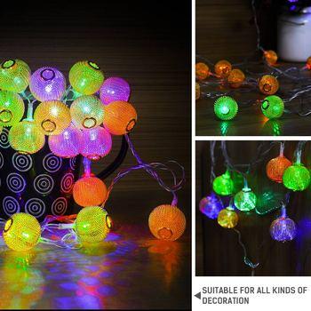 Guirnalda Iluminada Al Aire Libre   Luz LED De Cadena De 5M AC220V 5-10W Luces De Vacaciones A Prueba De Agua Linterna Luces Garland Exterior Hogar Linternas Tipo De Alambre De Cobre Alambre De Lámpara