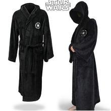 Купить с кэшбэком High Quality Star Wars Darth Vader flannel Terry Adult Halloween Bathrobe Jedi Robes Cosplay Costume Man Pajamas Lady