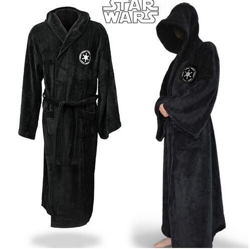 High Quality Star Wars Darth Vader flannel Terry Adult Halloween Bathrobe Jedi Robes Cosplay Costume Man Pajamas Lady
