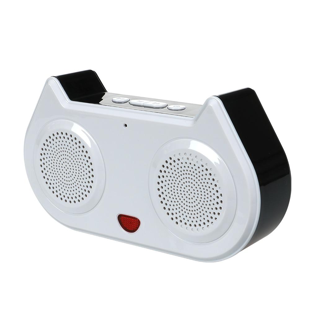 X98 Mini Cat Bluetooth Speaker Wireless Music Sound Box Subwoofer Loudspeakers With Mic TF FM Caixa De Som For Mobile Phones
