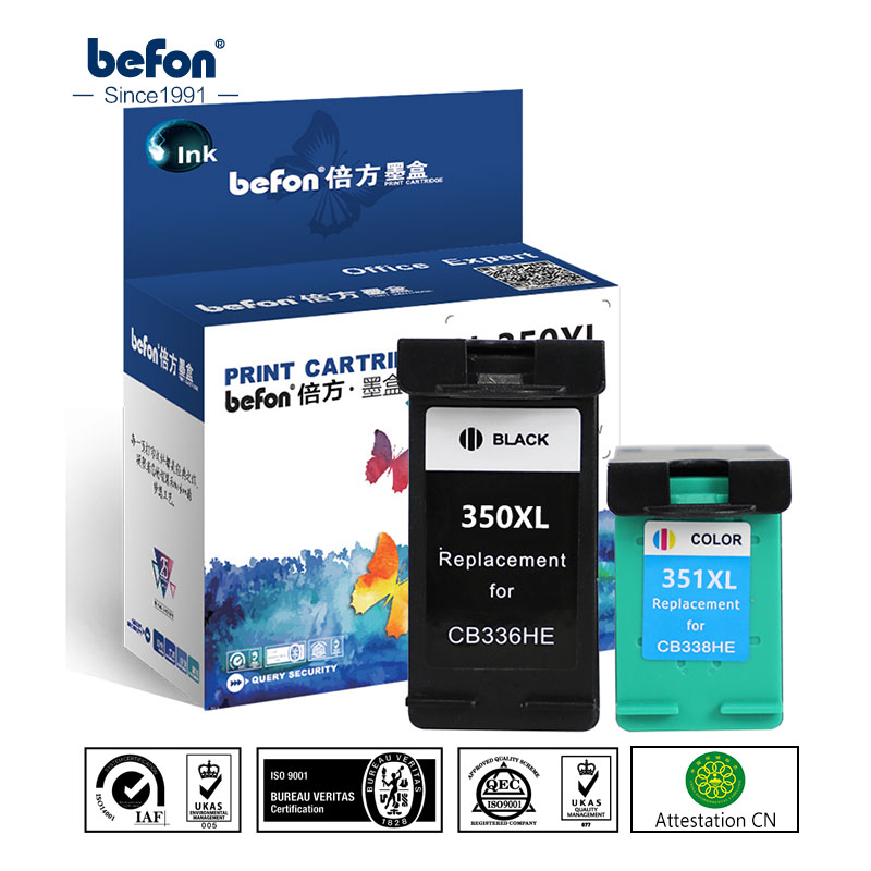 befon Re-Manufactured 350XL 351XL Cartridge Replacement for HP 350 351 Cartridge for Deskjet D4260 4260 D4360 C4200 C4480 C4280