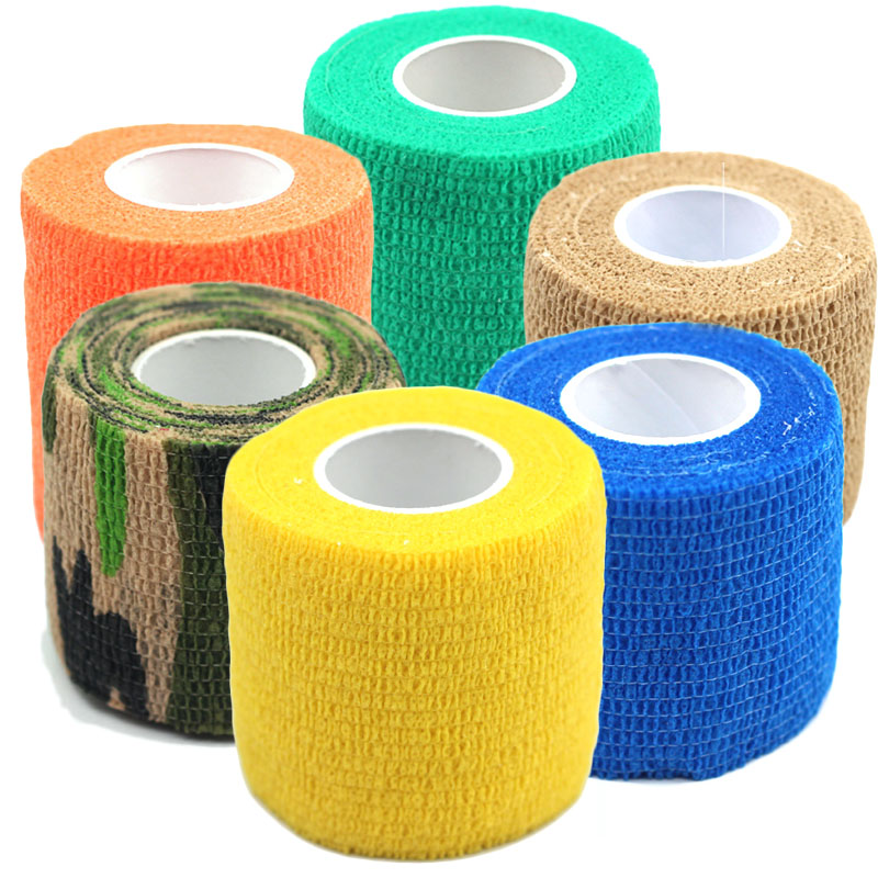 Fashion 6Colors Self Adhesive Ankle Finger Muscles Care Non-woven Fabrics Wrist Support Medical Bandage