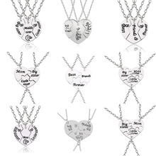 8a19b43900 Best Friend 3pcs Love Heart Sister Necklace Women Big Little Sis Mom BFF  Necklaces Pendants Fashion