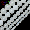 Natural White Agata Onyx Round Loose Beads For Jewelry Making 15.5inch/strand Pick Size 4/ 6/8/10/12mm DIY Bracelet (F00521)