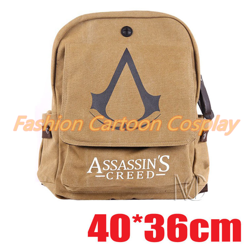 Assassins Creed Prints Canvas Backpacks Hynes Eagle Casual Student School Bags Primary Children Book Bag Mochila Travel Bag