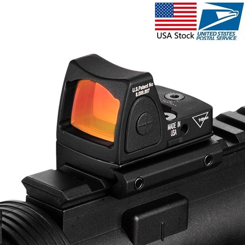 Trijicon Mini RMR Red Dot Sight Collimateur Glock/Pistolet Sight Reflex Portée ajustement 20mm Weaver Rail Pour Airsoft /Fusil de chasse