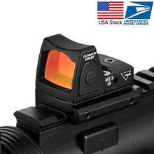 Trijicon мини RMR Красный точка зрения коллиматор Глок/пистолет рефлекс прицел подходит 20 мм Weaver Rail для страйкбола/Охота винтовка