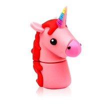 Popular 64gb 32GB 16GB 8GB 4GB memory stick Color horse USB Flash drive pen drive udisk gift(China)
