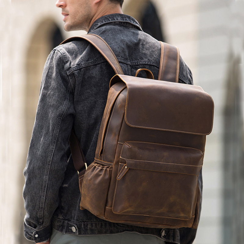 MAHEU Luxury Brand Designer Original Leather Backpack Fashion Style Men's Real Leather Backpacks Waterproof 2019 New Arrivals