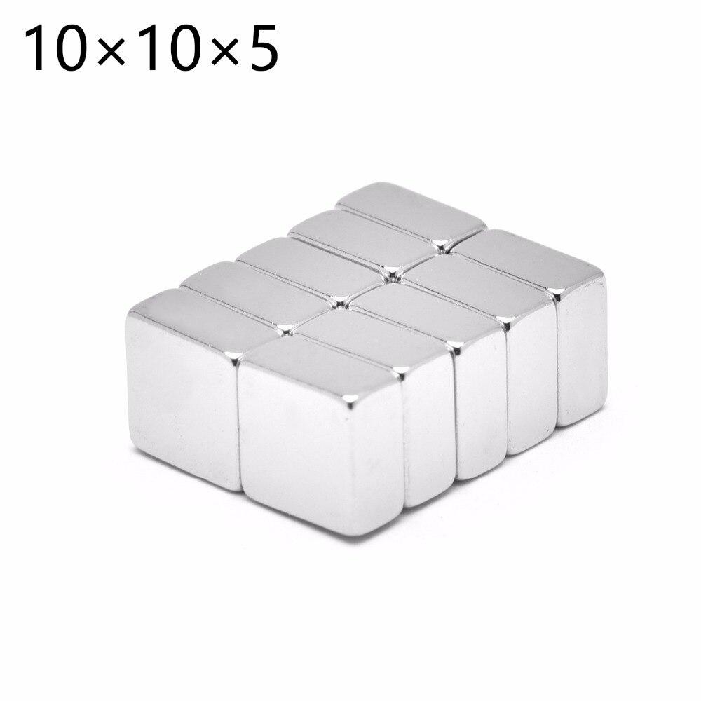 500pcs 10mm x 10mm x 5mm Super Powerful Strong Rare Earth Block NdFeB Magnet 10x10x5 Neodymium N35 Magnets 10*10*5 Free Shipping(China)