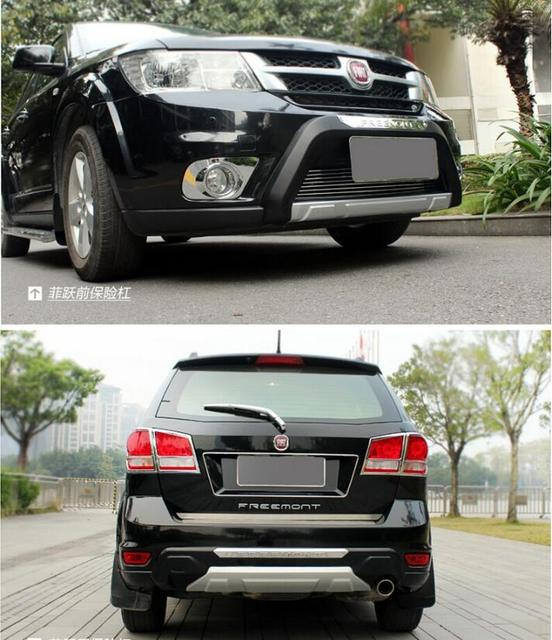 2pcs Front Rear Bumper Protector Guard Skid Plate For Fiat