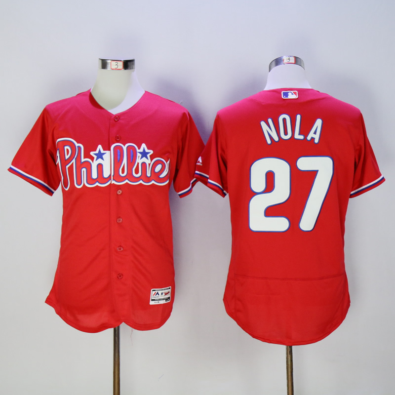 Mens Philadelphia Phillies Aaron Nola Flexbase Fully Stitched Baseball Jersey