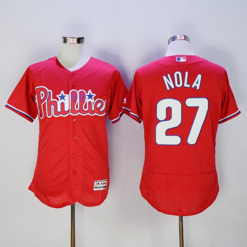 Mens Philadelphia Phillies Aaron Nola Flexbase Fully Stitched Baseball Jersey