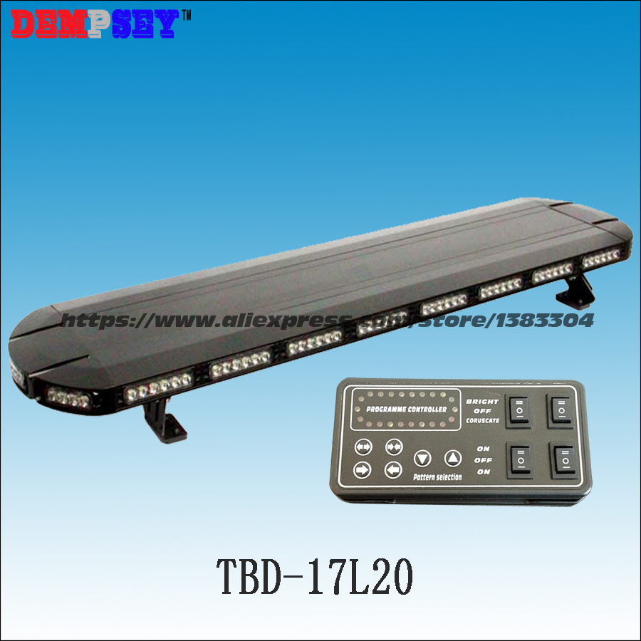 TBD-17L20 Factory direct sale LED strobe warning light bar/Red Blue police emergency lightbar for sale with aluminum body