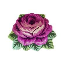 Фиолетовый розовый коврик с ворсом и коврами для гостиной, спальни, ручной работы, вышивка, мягкий уютный ковер, нескользящий коврик для пола, коврики