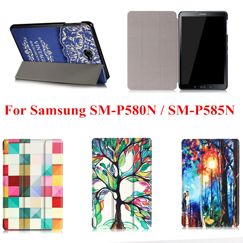 CY Luxury PU Leather Cute Case Stand Folio Cover For Samsung Galaxy Tab A A6 10.1 inch with S Pen P580 P585 P588C P583 Tablet new fashion tab s3 9 7 tablet case pu leather flip cover for samsung galaxy tab s3 9 7 inch t820 t825 cute stand cover 6 colors