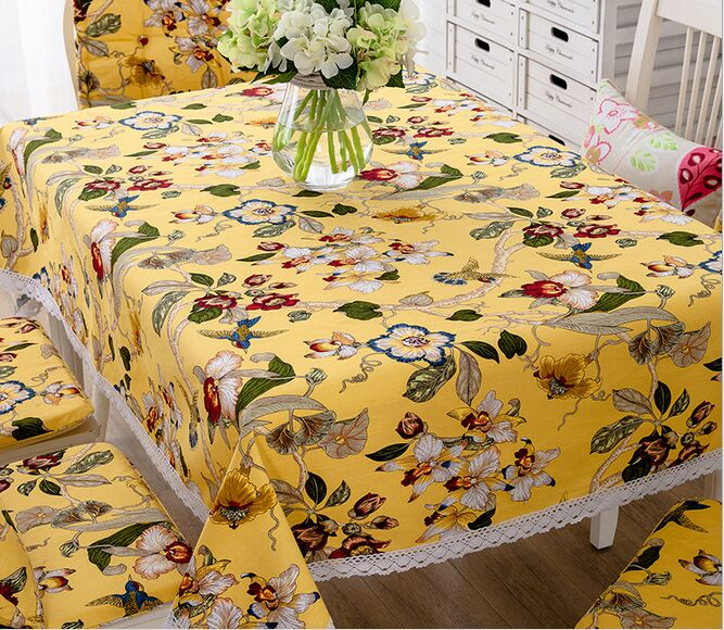 Embroidery Manual American Village Table Cloth Cotton Non Slip Tablecloth  Fresh And Elegant Coffee Cloth Free Shipping  In Tablecloths From Home U0026  Garden On ...