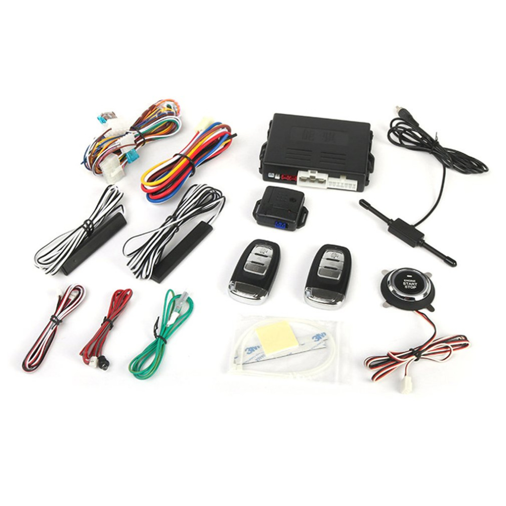 Professional Door Lock PKE Anti-theft Vehicle Keyless Entry System Central Locking with Remote Control Car Alarm Systems Hot