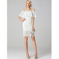 LAN Ting невесты колонки оболочки свадебное платье Off The Shoulder MINI Короткие Кружево свадебное платье с аппликациями