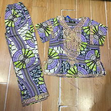 2cf5ed68c2259a african GIRLS dress wax fabric with cording embrodiey top with pants for  kids children 2