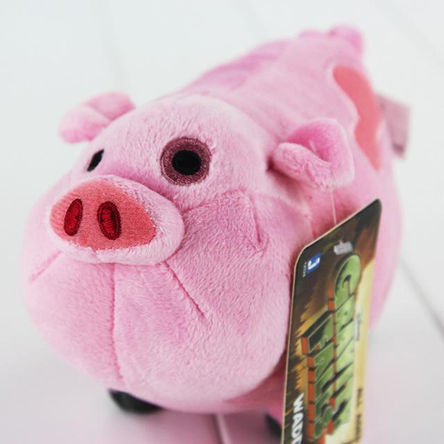 New Gravity Falls Pink Pig Waddles Stuffed Animal Plush Toys Cartoon Soft Dolls 16 CM