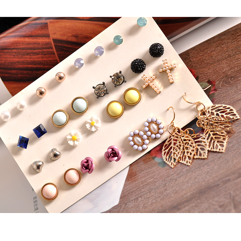 New fashion gorgeous women jewelry, girls birthday party, Christmas stud cross, Leaf pin ...