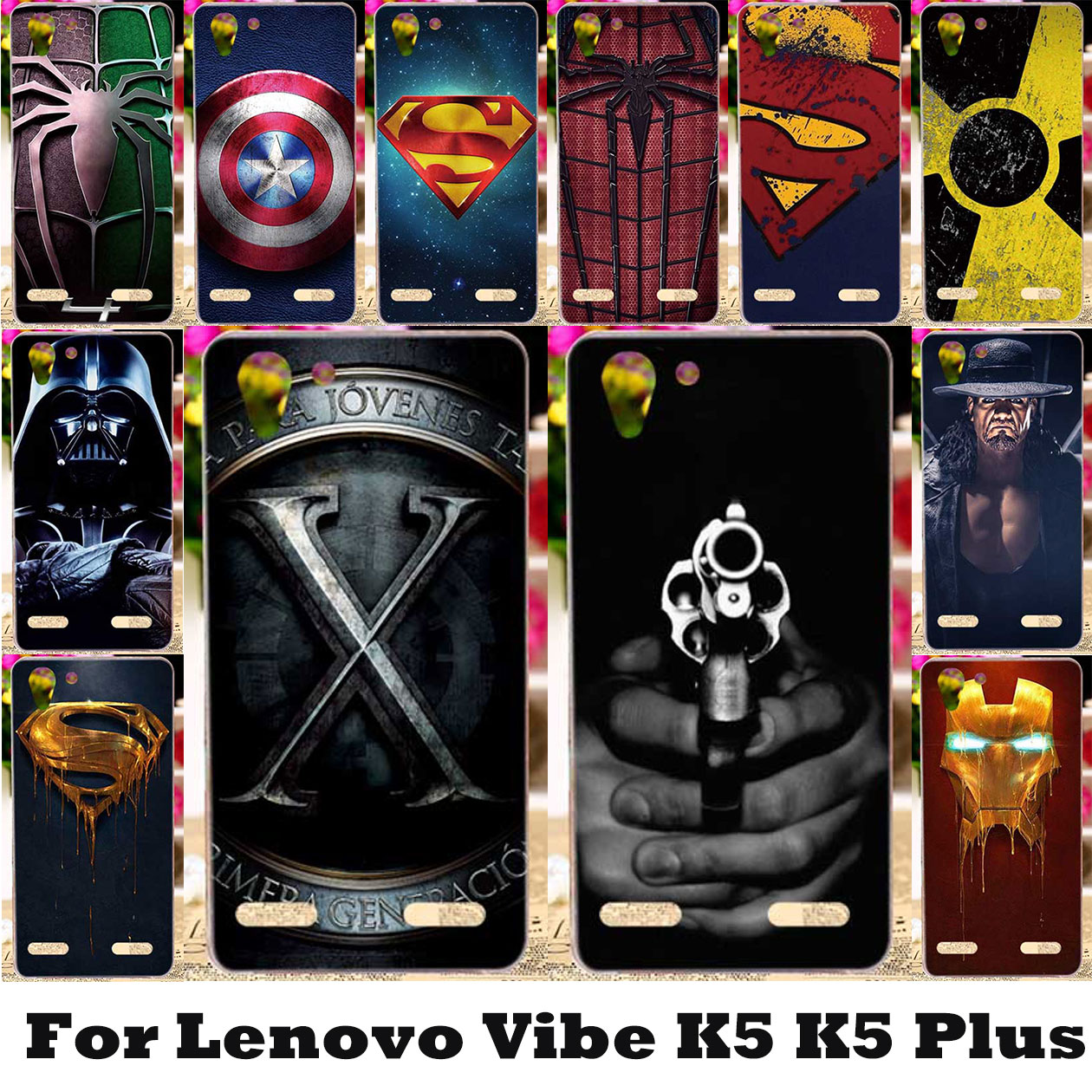 3D DIY Captain Painted <font><b>Cases</b></font> For <font><b>Lenovo</b></font> Vibe K5 K5 Plus Lemon 3 K32C36 A6020 <font><b>A6020a46</b></font> A6020a40 Cover Silicone Plastic Back Bag image