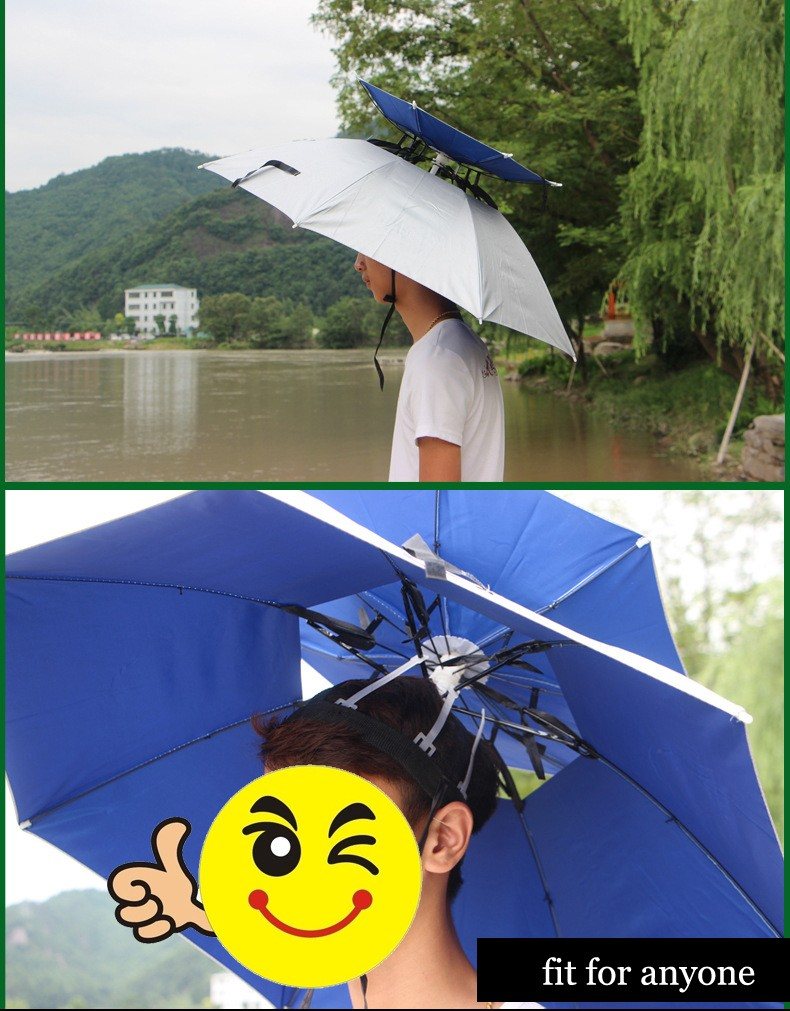 The3d Double Umbrella Hat Best For Fishing With Sunny Or Bagus Anti Uv Blue Stripes 2783588962 8620749 2783600083 8620742 2784930520 862072 2784933233