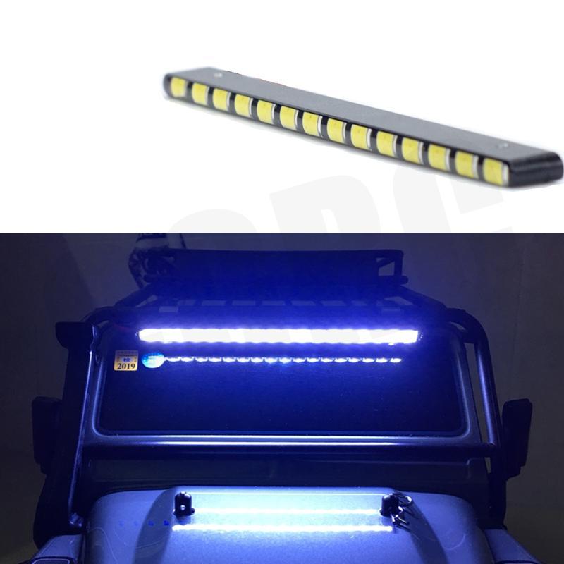 LED Scheinwerfer Scheinwerfer Rooflight 125mm für 1/10 RC Crawler Auto Traxxas TRX4 D90 D110 Axial scx10 90046 RC4WD CC01 ford Bronco