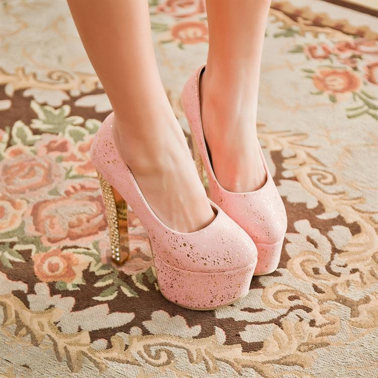 2015, 15 cm thick with waterproof high with big yards single shoes for women's shoes white bride wedding shoes bridesmaid, 33-40 the bride single shoes catwalk shows the performance of 15 cm high with roman style thick bottom appeal show shoes