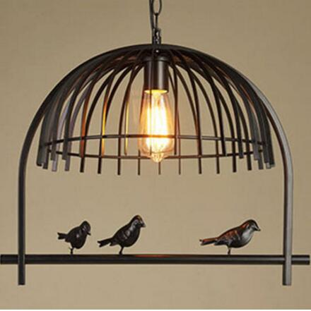 american country retro creative industrial birdcage chandelier iron art personality cafe wine bar - Birdcage Chandelier