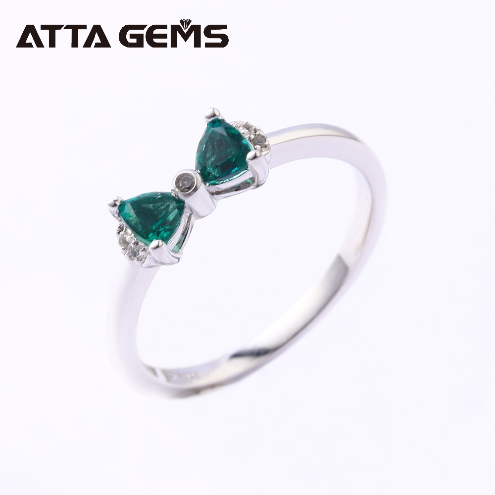 Emerald Sterling Silver Ring For Girl Created Lovely Design Youny Girls Birthday Gifts Party Jewelry Daughters Gift In Rings From