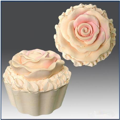 컵 케이크 로즈 아이스크림 꽃 3D 실리콘 금형 비누 - 주방, 식당 및 바 - 사진 1