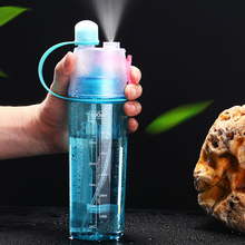 New 400/600Ml 3 Color Solid Plastic Spray Cool Summer Sport Water Bottle Portable Bike Bicycle Shaker My Bottles