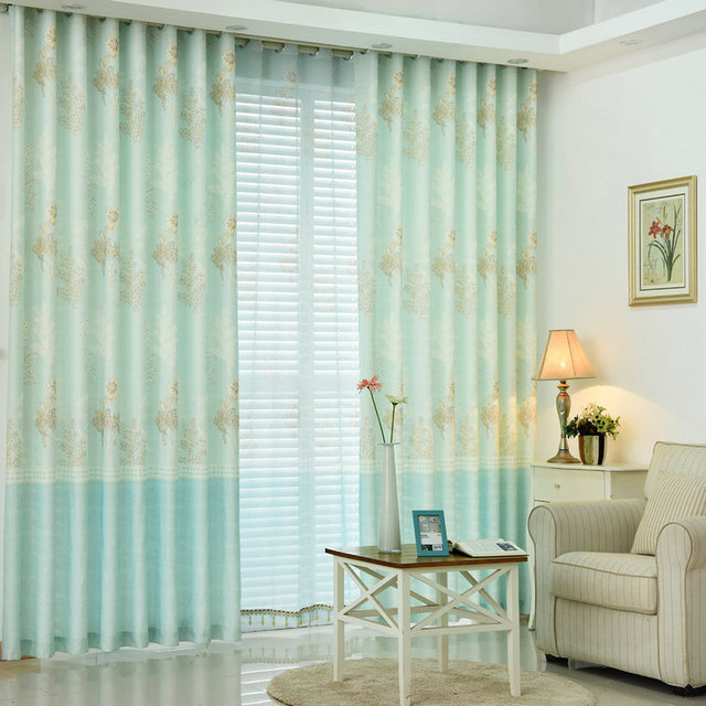 Corea olor fresco impresión Blackout cortinas para sala de estar ...