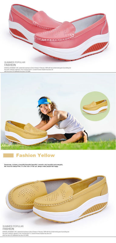 New Womens Shake Shoes Lady Genuine Leather shoes (23)