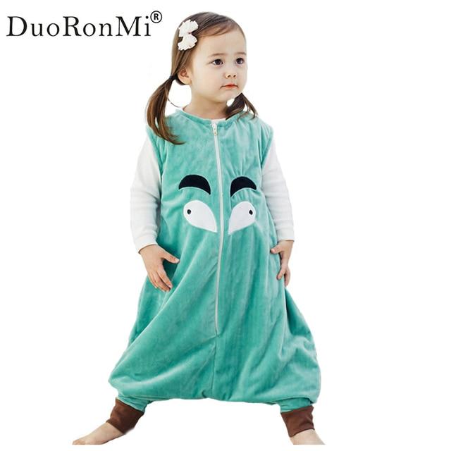 DuoRonMi Cartoon baby sleepers Autumn Winter Children Jumpsuit Flannel  Animal Panda Kid Pajamas Costume One Piece Sleepers 13d4f141c