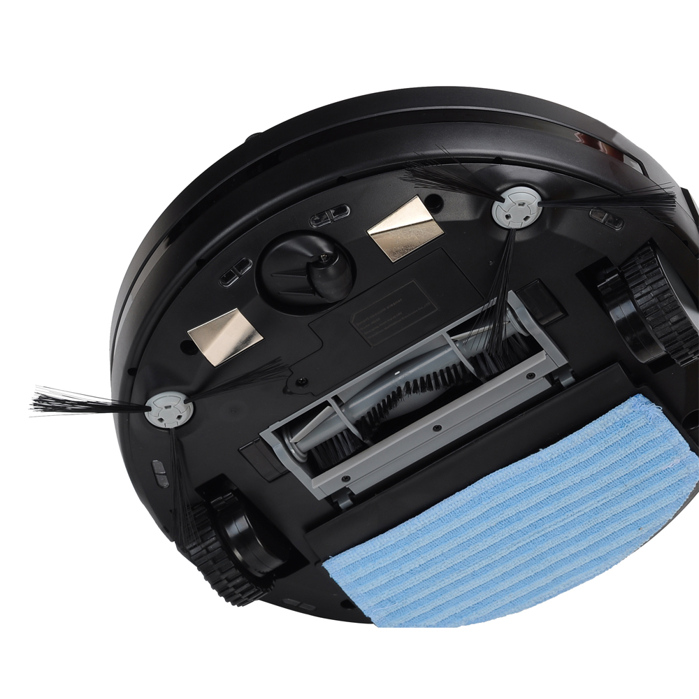 Eworld Fashionable Robot Vacuum Cleaner With Infrared Induction Receiver ,Fault Alarm Function Water Tank With Big Mop
