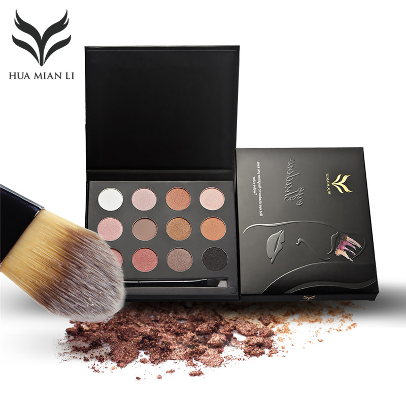 HUAMIANLI 12 Kleur Matte Shimmer Shining Oogschaduw Poeder Make - Make-up